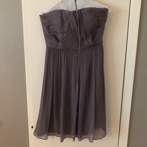 Donna Morgan Dark Gray Strapless Bridesmaid Dress